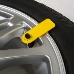 Däckmärkning på hjul
